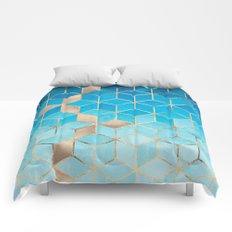 Sea And Sky Cubes (Custom Request) Comforters