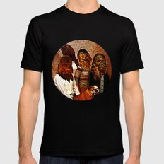 Wookiee Family Portrait  |  Star Wars Black Mens Fitted Tee X-LARGE