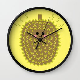 Happy Pixel Durian Wall Clock