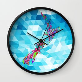 New Zealand Map : Square Wall Clock
