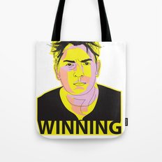 Charlie Sheen Winning_Ink Tote Bag