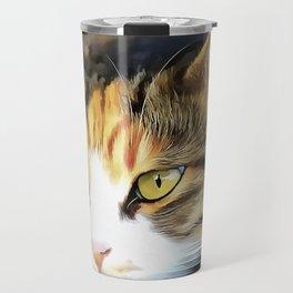 Contented Cat Travel Mug