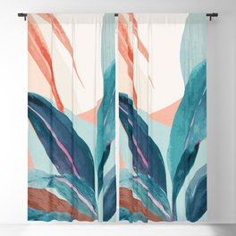 Abstract Art Tropical Leaves 15 Blackout Curtain