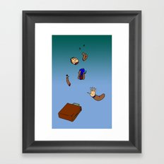 Falling to Pieces Framed Art Print