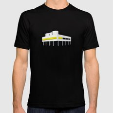 Villa Savoye, Le Corbusier - modern architecture series  Mens Fitted Tee Black LARGE