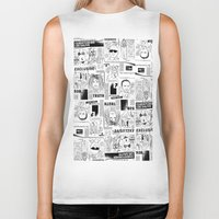 scandal Biker Tanks featuring Scandal Pattern by CLSNYC