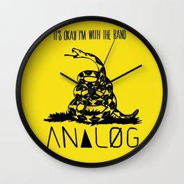 Snake and Band (Analog Zine) Wall Clock