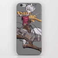 attack on titan iPhone & iPod Skins featuring Yoshimi Titan attack by ChiyoArts