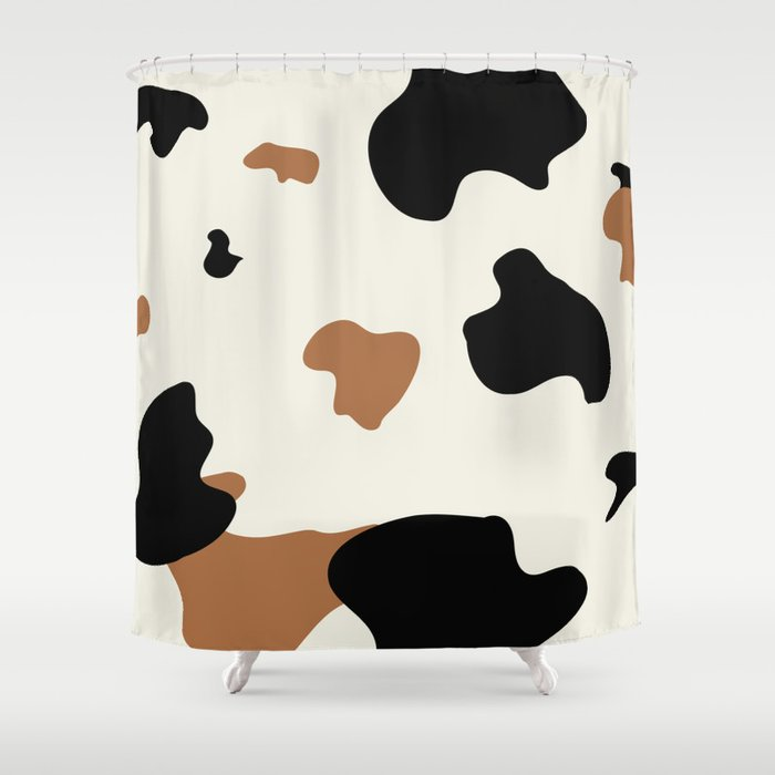 Cowhide Pattern Shower Curtain