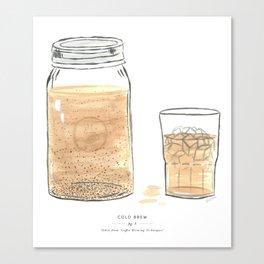 Cold Brew Coffee Canvas Print