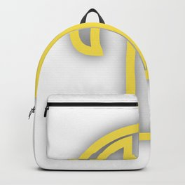 Letter V in Yellow Backpack