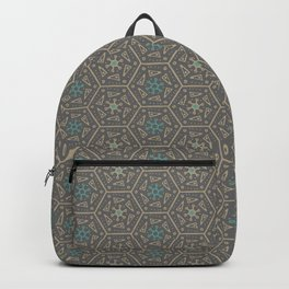 Going round and round - Orange/Taupe/Teal Backpack