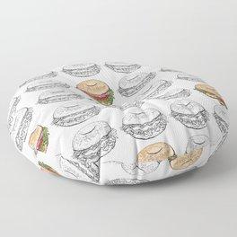 Bagel Sandwich Floor Pillow