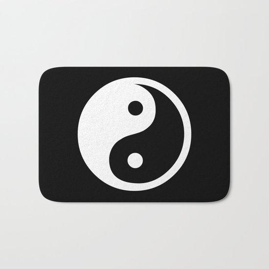 Yin Yang Black White Bath Mat