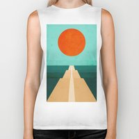 road Biker Tanks featuring The Road Less Traveled by Picomodi