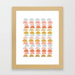 Abstract Half Moon Mountains Framed Art Print