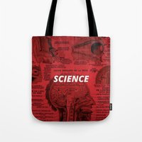 science Tote Bags featuring Science by dreamshade