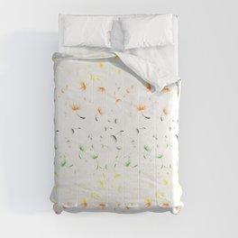 Dandelion Seeds Aromantic Pride (white background) Comforters