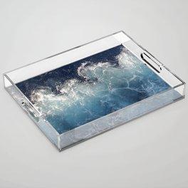 Ocean Waves Acrylic Tray