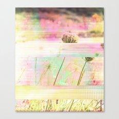 Wild Flower Glitch Canvas Print
