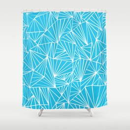 Ab Fan Electric Blue Shower Curtain