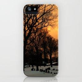 Tangerine Graveyard iPhone Case