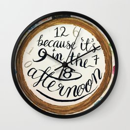 Panic at the Disco! lyrics from Nine in the Afternoon Wall Clock