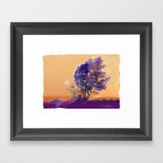 Huron Sunset Framed Art Print