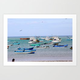 fishing boats Art Print