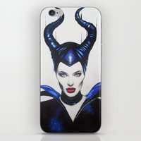 maleficent iPhone & iPod Skins featuring Maleficent by Aggelikh Xiarxh