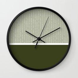 Linen Sage & Olive Wall Clock
