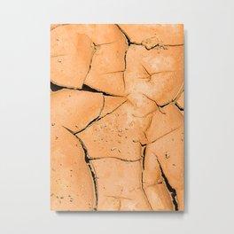 Cracked Terrain in Morocco Metal Print