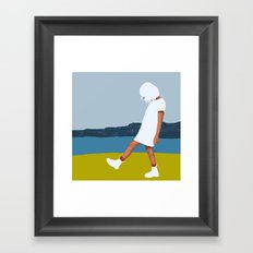 White days Framed Art Print