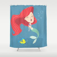 ariel Shower Curtains featuring Ariel by Rod Perich