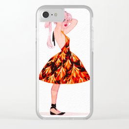 Summer dress Clear iPhone Case