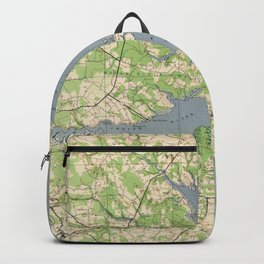 Vintage Rehoboth & Bethany Beach DE Map (1944) Backpack