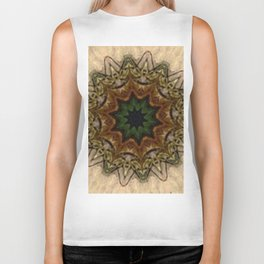 Vintage Peacock Feather Kaleidoscope Biker Tank