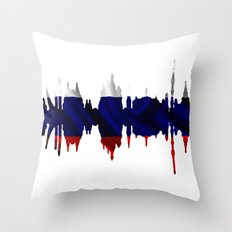 Moscow city silhouette Throw Pillow
