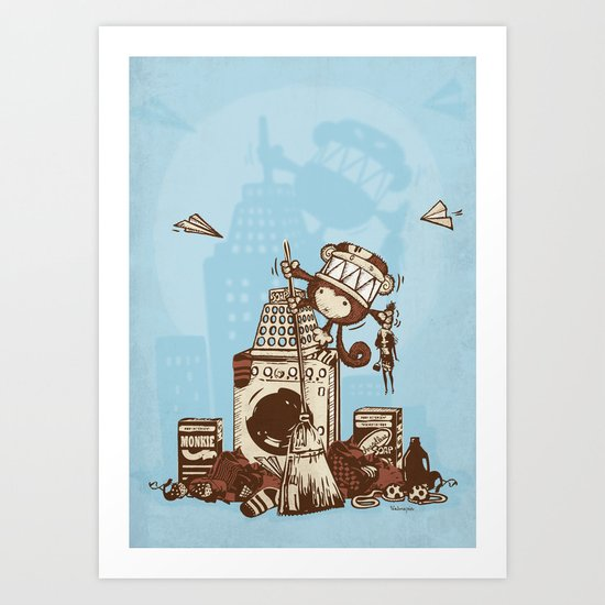 Laundry Monkie Art Print