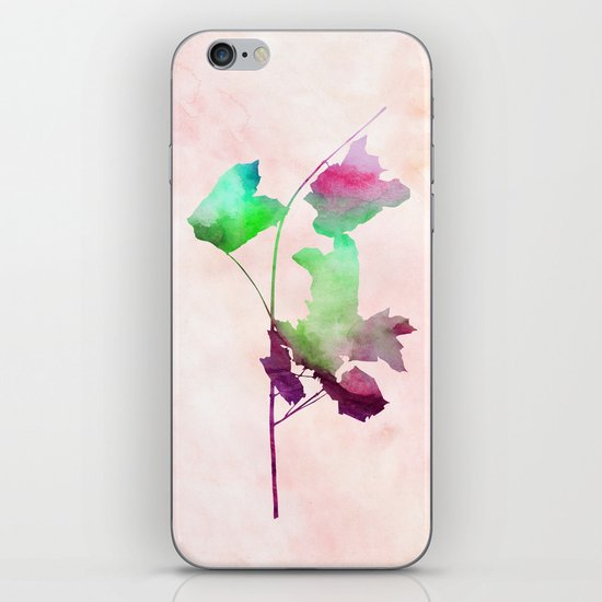 Maple_Watercolor2 by Jacqueline and Garima iPhone & iPod Skin