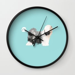 tibetan terrier funny farting dog breed pure breed pet gifts Wall Clock