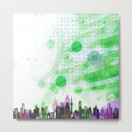 Bright Architecture and Snowflakes #2 Metal Print