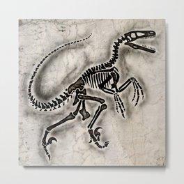 Dino Fossil Metal Print