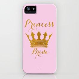 Princess Bride - Gold Faux Foil Crown iPhone Case