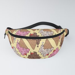 Neapolitan Ice Cream Pattern Fanny Pack