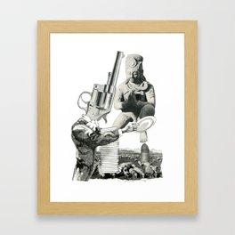 Stop The Violence Framed Art Print