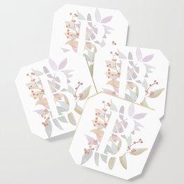 Rustic Floral Watercolor Monogram - Letter B Initial Coaster