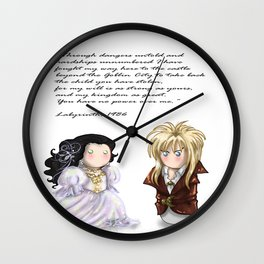 You have no power over me!  White Wall Clock