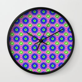 70s Floral Wall Clock