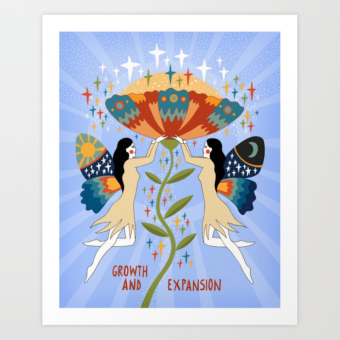 Growth and expansion Art Print